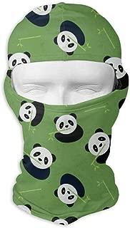 Comfortable Panda Bear Pattern Headcover Soft Balaclava Headwear Fit Full Hood Face Mask White