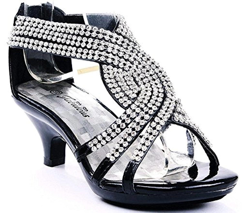 [JJF Shoes] ガールズ US サイズ: 10 M US Toddler カラー: ブラック