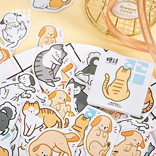 45 pcs/pack Cute Dog Cat Animal Sticker Decoration Diy Scrapbooking Sticker Stationery Kawaii Diary Label Sticker