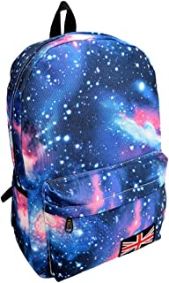 Wultia - Hot Sales Galaxy Pattern Unisex Travel Backpack Canvas Leisure Bags Canvas School Bag High Quality Blue