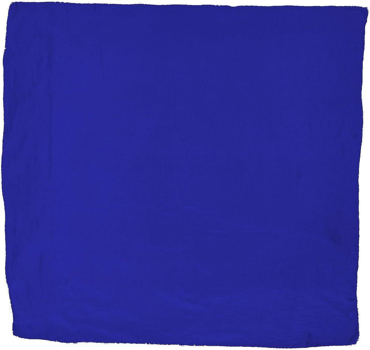 Cowboy Wild Rag Silk Scarf - Royal Blue