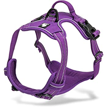 Chai's Choice Best Outdoor Adventure Dog Harness. 3M Reflective Vest with Two Leash Attachments. Caution - Please Measure Dog Before Ordering! Matching Leash and Collar Available