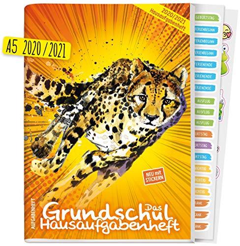 Hausaufgabenheft Grundschule: Das Grundschul-Hausaufgabenheft 2020/2021 A5 [Gepard] + Lerntipps, spannendes Wissen, Lern- und Denkspiele! Klimaneutral und nachhaltig