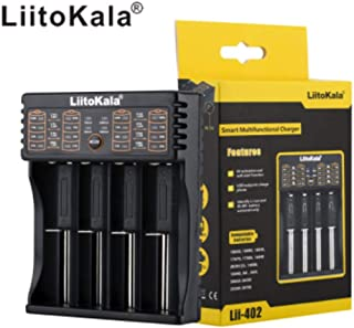 Novania LiitoKala Lii-402 Smart Battery Charger AA/AAA for 18650 18350 Ni-MH Li-ion/IMR (A)