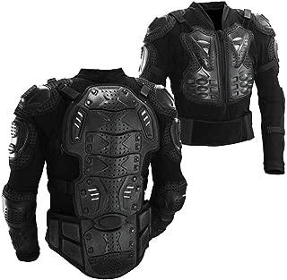 Motorcycle Full Body Armor Protective Gear Jacket Street Sport Motocross ATV Guard MTB Racing Shirt Jacket Protector Pro for Men (Black, M)