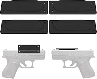 LIRISY 4PCS Gun Magnet Mount, 45lb Car Holster Concealed Carry Holster Under Desk Holster for Handgun Pistol Revolver Magazine in Vehicle, Wall, Vault, Bedside