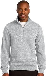 Sport-Tek Men's Colorfast 1/4-Zip Wiastband Sweatshirt Athletic Heather