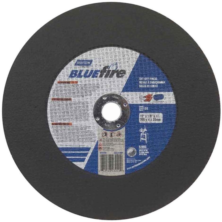Norton 66252843249 12x1 8x1 in. Al shipfree Wheels ! Super beauty product restock quality top! BlueFire Zir. Cut-Off