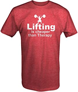 Lifting is Cheaper Than Therapy Squat Deadlift Bench Workout T Shirt for Men