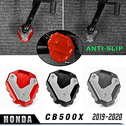 LoraBaber Motorradfuß Seitenständer Erweiterung Ständer Pad Platte Anti-Rutsch-Seitenständer Pad für H-o-n-d-a 2019-2020 CB500X CB 500X CB 500 X (Titan)
