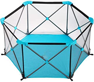 ZQSB Durable Fold Playpen  Baby Playpen Portable  Home Indoor Outdoor Play Children Activity  Anti-Collision  Independent Space  Suitable for Living Room Park Blue