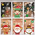 247-Pieces Christmas Window Clings Decal Stickers (8 Sheets)