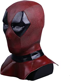 DP2 Wade Mask Cosplay Helmet Full Head Latex Flexible Helmet Halloween Costume Prop Fancy Ball Soft Mask Red Black