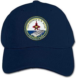 ADGoods Kids Children USS George H. W. Bush CVN-77 Crest Baseball Cap Adjustable Trucker Cap Sun Visor Hat For Boys Girls ...