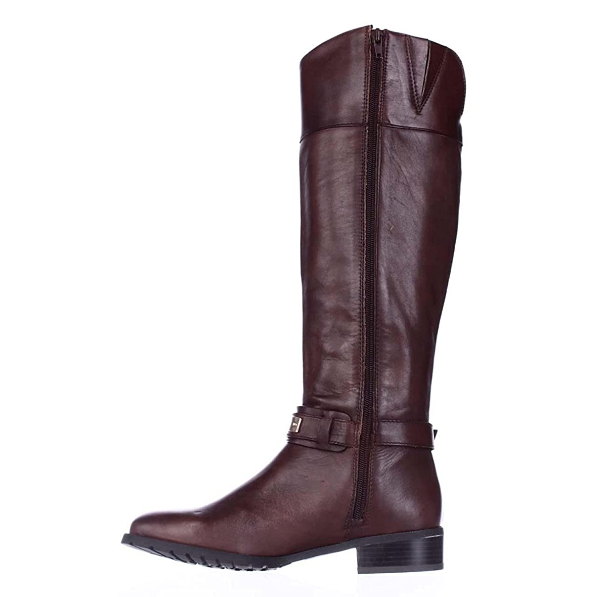 権利を与える酔って成熟したINC International Concepts Womens Fabbaa Round Toe Leather Fashion Boots, Brown, Size 6.5