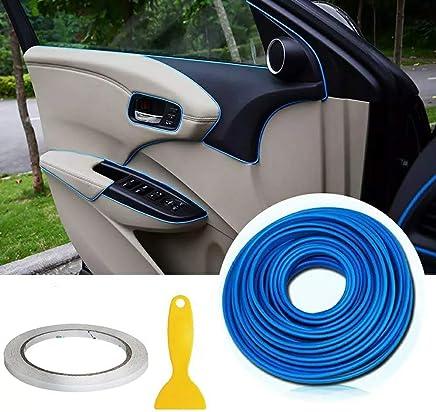 Hamkaw Car Interior Moulding Trim 10 Pcs U Shape Car Air Vent Decoration Trim Strip DIY Auto Interior Accessories Blue