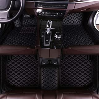 Jiahe Car Floor Mats for BMW 5 Series Sedan F10 520i 523i 528i 535i 550i 2011-2013 2012 Full Covered Advanced Leather Carpet Auto All Weather Protection Front & Rear Liner Black