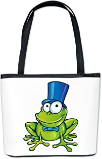 Bucket Bag Purse (2-Sided) Frog with Top Hat