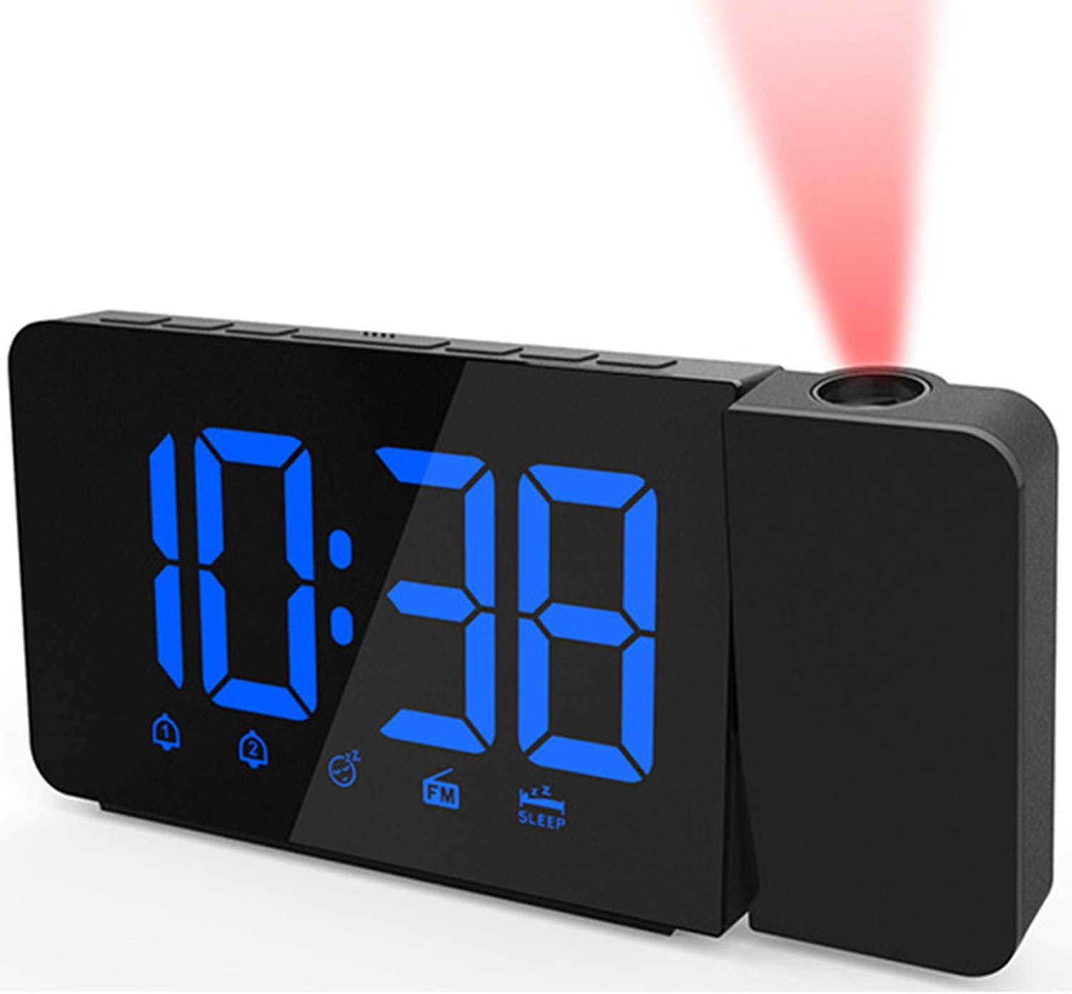 San Francisco Mall YINGHUI Alarm Clock with Projection Digi on Max 53% OFF Radio withFM Ceiling