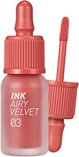 Peripera Ink Airy Velvet Lip Tint   High-Pigmentation, Lightweight, Soft, Moisturizing, Not Animal Tested   Cartoon Coral (#03), 0.14 fl oz