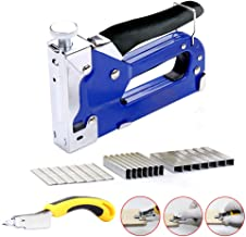 Upholstery Staple Gun 3 in 1 Heavy Duty with Remover tool,900 Staples,Hand Operated Carbon Steel Brad Nail Gun,for Fixing Material, Decoration, Carpentry, Furniture, Doors And Windows, Billboards