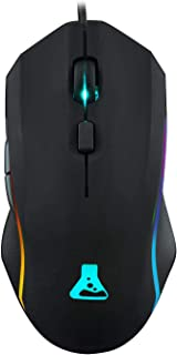 THE G-LAB Kult PROMETHIUM Ratón gaming 8200 DPI, Sensor Láser de Precisión Extrema - Ratón gaming con Cable, 6 Botones Programables, 100% RGB Luz de Fondo - PC compatible PS4 Xbox One Mac (Negro)