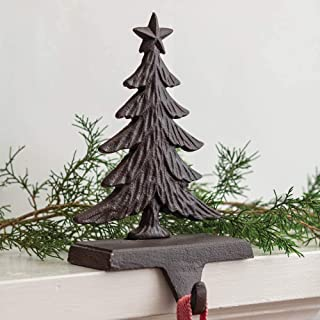 CTW 370345 Cast Iron Christmas Tree Stocking Holder, 8-inch Height, Brown