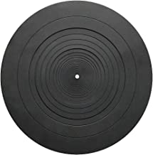 Ywhomal Turntable Mat Rubber 12 inch Silicone Turntable Slipmat for Universal to All 12 inch Turntable Platter Protect Your Vinyl from Static and Dust (12 Inch Diameter)