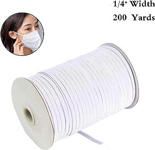 JYRibbon 1/4 Inch 100 Yards Elastic Bands Cord Elastic Rope Stretch Knit Elastic Spool for Knit Sewing Crafts DIY Earloop, Cuff (White)