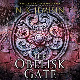 The Obelisk Gate     The Broken Earth, Book 2              Written by:                                                                                                                                 N. K. Jemisin                               Narrated by:                                                                                                                                 Robin Miles                      Length: 13 hrs and 19 mins     158 ratings     Overall 4.7