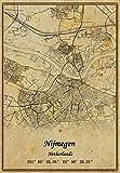 Niederlande Nijmegen Landkarte, Wandkunst, Poster,