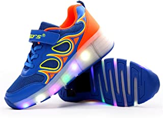 EVLYN Fashion LED Shoes Night Light Dance Sneakers Single Wheel Skating Shoes