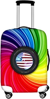 FOR U DESIGNS Men's Usa Flag Print Travel Suitcase Protective Cover Luggage COVER M-(22-25 inch) Colorful