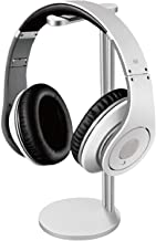 Flexzion Headphone Stand with Lightweight and Solid Aluminum Base - Universal Headset Holder Earbuds Earphone Display Hanger Mount Rack for Beats Desk Classroom Home Office Exhibition Silver