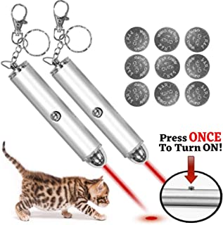 Animmo 2X Cat Light Pointers Batteries Included for Both Plus Individually Tested for..