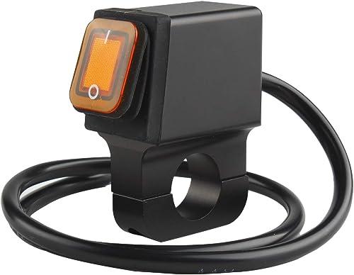 2021 Larcele Motorcycle Headlight Switch 12V 22mm online Handlebar Fog Spot Light On Off Switch high quality SBKG-13 outlet sale
