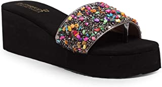 Butterflies Steps Latest Collection, Comfortable Wedges Sandal for Women's & Girl's (Multi) (GHS-0049MLT)