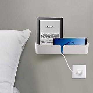 Easy & Eco Life Bedside Bed Organizer Storage Rack Shelf Caddy Self Stick On Wall Mounted Damage Free Installation - Perfe...