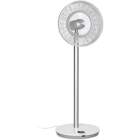 """KLARSTEIN Whisperwind - Ventilateur sur Pied, 1 531 m³/h, 30W, 12 Vitesses, 9 pales (12""""/ 30,5cm), Oscillation Horizontale Automatique, Télécommande, Protection sûre Contre basculement - Blanc"""
