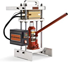 3 Ton Hydraulic Jack Heat Press - dp-bj3t33-3x3 Inch Anodized Heat Press Plates - 500 Watts - Dual Heating Machine - Accurate Temp Detected