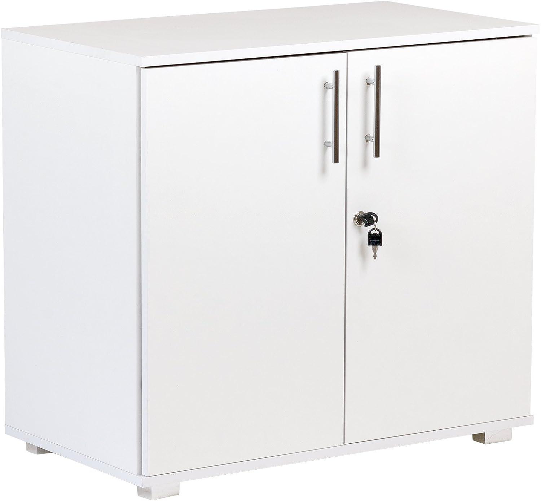 Sales results No. 1 White Storage Cupboard 2 Door Fees free!! Locking Office De Bookcase Cabinet
