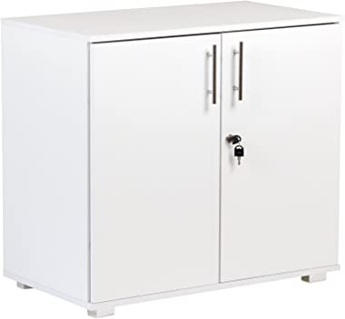 Storage Cabinet Filing Cupboard and Desktop Extension in White - Home or Commercial Office use