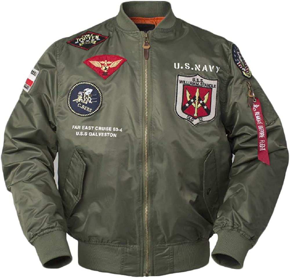CORIRESHA Mens Outdoor Embroidered Patches US Complete Free Shipping Bomb Navy Slim Fit Shipping included