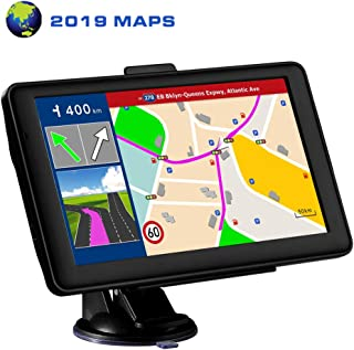 LONGRUF Car GPS Navigation,7-inch 256MB-8GB 7 inch Car GPS HD Touch Screen 8GB 256MB Sat Nav for Cars with USA, Canada, Mexico Lifetime Map Free Update