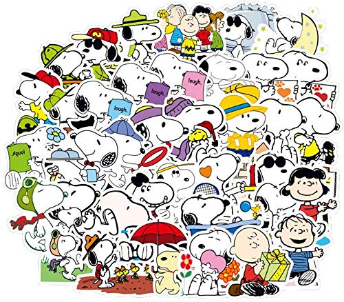 Zhongyanxin 100PCS Cartoon Snoopy Art Vinyl Wasserfest Sticker Computer Auto Skateboard Motorrad Fahrrad Gepäck Fahrrad Vinyl Graffiti Aufkleber