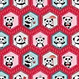 Panda Stoffe–Panda
