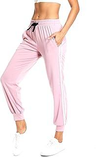 dafc37ed7 RIOJOY Pantalones Deportivos Casuales de 2 Rayas con cordón en la Cintura,  Pantalones de chándal