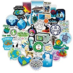 Amazing 50 pieces Green Cute Stickers cartoon graffiti decals for kids,youth and teens, a best gift for your kids, friends, lovers to DIY decoration. Perfect to personalize Laptops, Macbook, Skateboards, Luggage, Cars, Bumpers, Bikes, Bicycles, Bedro...