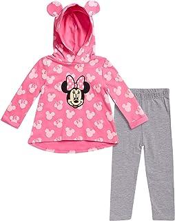 Disney Girls' Long Sleeve Hooded Shirt and Legging Set (Newborn and Infant)