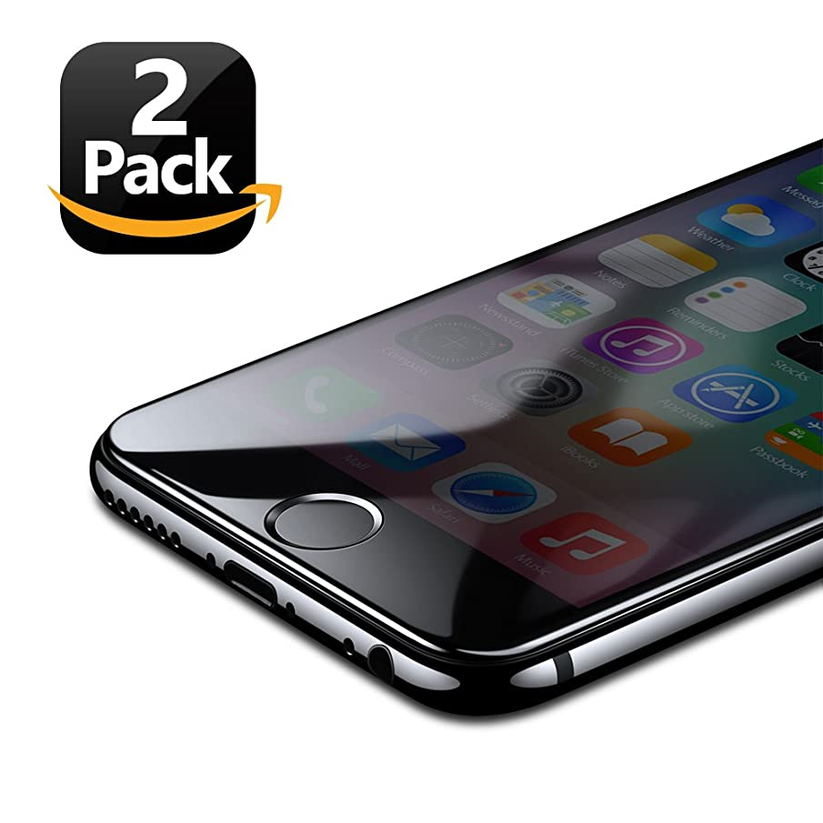 Eakase iPhone 7 Plus 8 Plus Screen Protector, Tempered Glass With Soft Pet Frame 3D Full Coverage Anti-Scratch HD Clear Screen Protector Film For Apple iPhone 7 Plus 8 Plus - Black - 2 Piece
